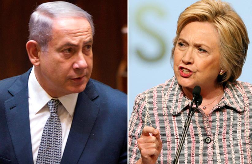 Netanyahu and Clinton (photo credit: REUTERS)
