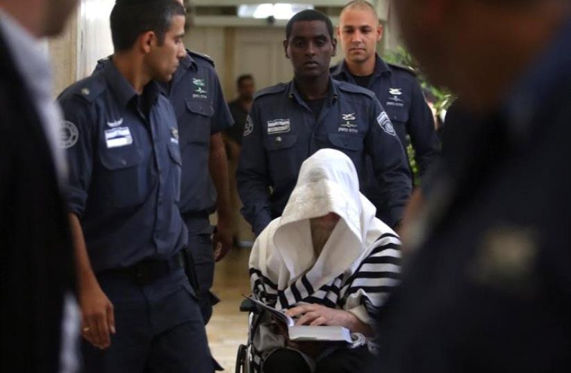 Rabbi Eliezer Berland at the indictment Friday, July 29. (photo credit: MARC ISRAEL SELLEM)