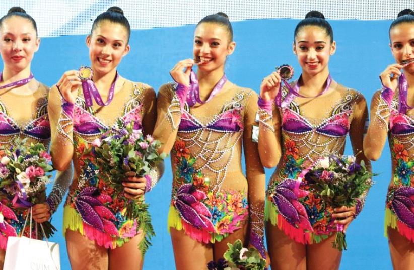 Israel Rhythmic Gymnastics Team (photo credit: Courtesy)