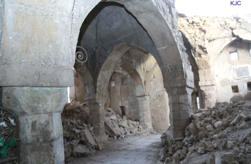 The tomb of the Prophet Nahum and his sister Sara  (photo credit: COURTESY KURDISH JEWS AFFAIRS REPRESENTATION)