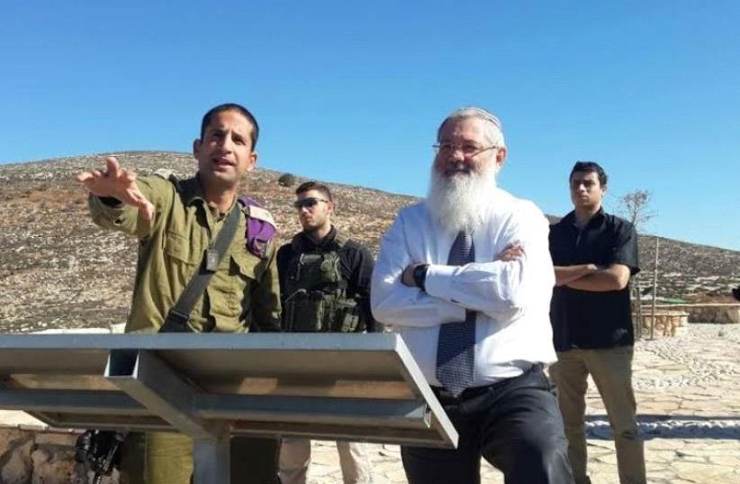 Deputy Defense Minister and Bayit Yehudi MK Eli Ben-Dahan visiting the Givati Brigade's Tomer Company in the Shomron (photo credit: OFFICE OF DEPUTY MINISTER ELI BEN-DAHAN)