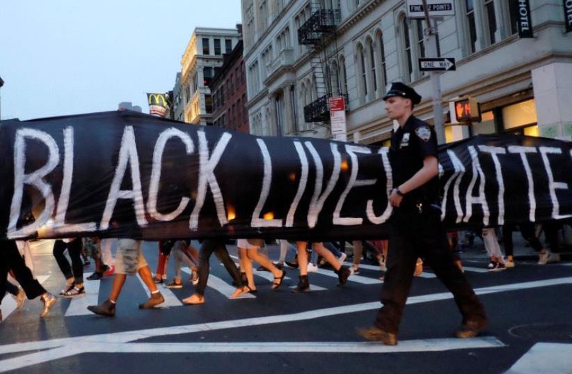 Black Lives Matter protest (photo credit: REUTERS)