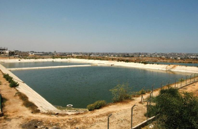 A GENERAL VIEW of the sewage treatment facility is seen in the northern Gaza Strip, in July 2008. (photo credit: MOHAMMED SALEM)
