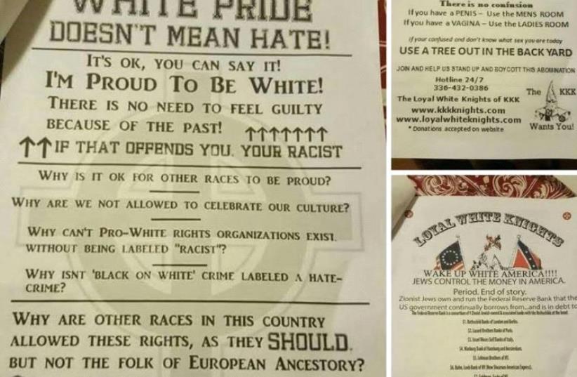 KKK in New York (photo credit: ADL)