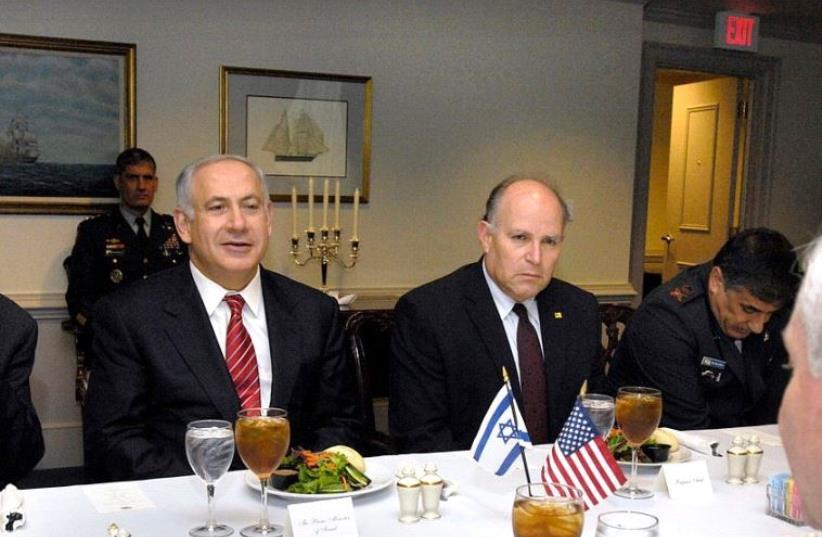 Prime Minister Benjamin Netanyahu and former National Security Council chairman Prof. Uzi Arad. (photo credit: WIKIMEDIA)