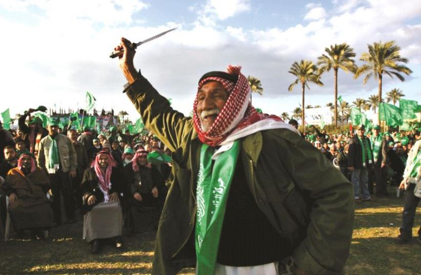 Partisans du Hamas lors des élections de 2006 (photo credit: REUTERS)