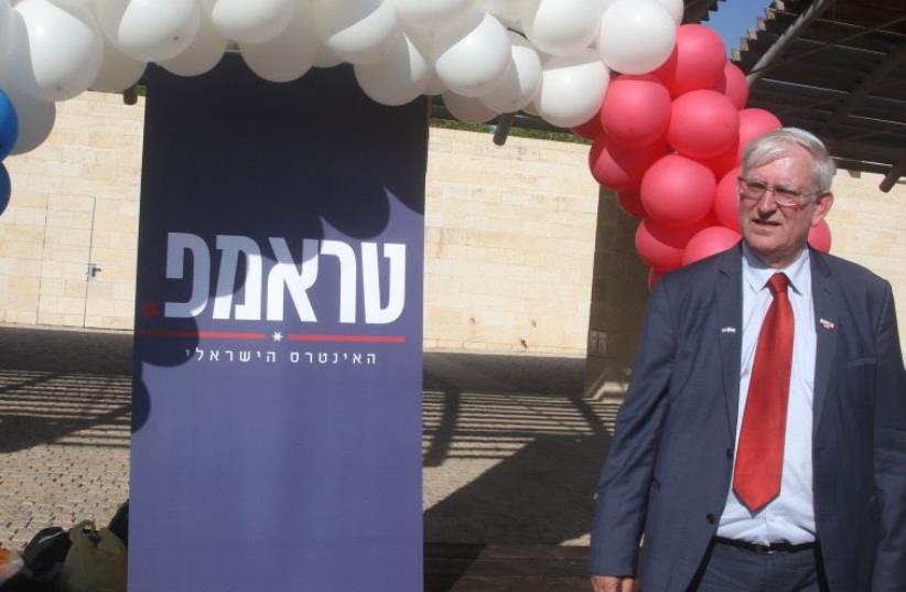 Trump supporter Mark Zell in Modiin (photo credit: MARC ISRAEL SELLEM)