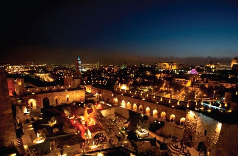 Jerusalem at night (photo credit: NOAM SHUGANOVSKY)