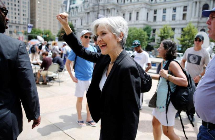 Green Party presidential candidate Jill Stein. (photo credit: REUTERS)