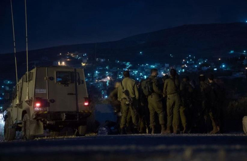 IDF forces in the West Bank. (photo credit: IDF SPOKESMAN'S OFFICE)