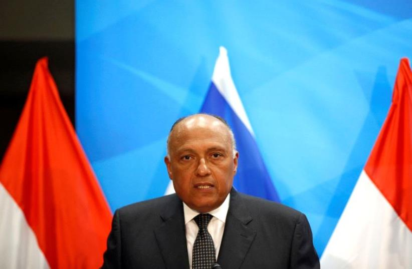 Egyptian Foreign Minister Sameh Shoukry (photo credit: REUTERS)