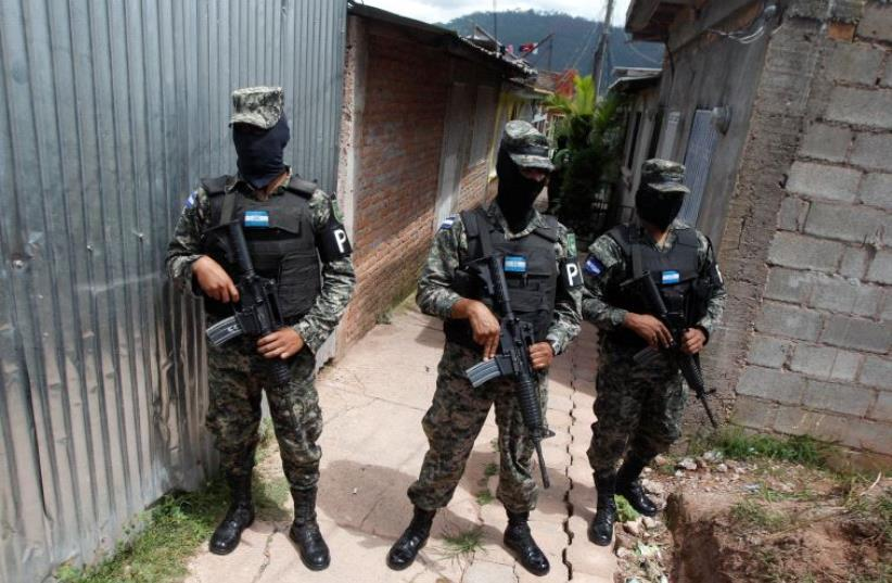 Honduran Military Police (photo credit: REUTERS)