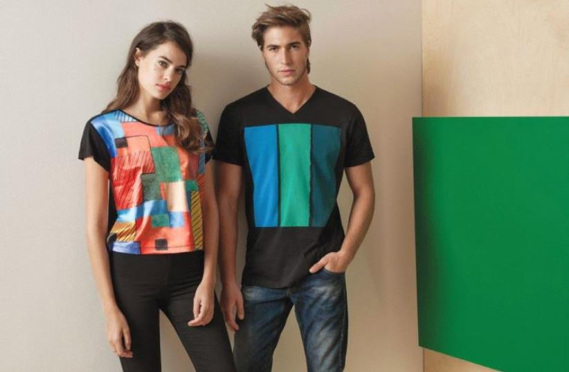 CASTRO T-SHIRTS incorporating the designs of Israeli Artist Hagit Lalo. (photo credit: DUDI HASSON)