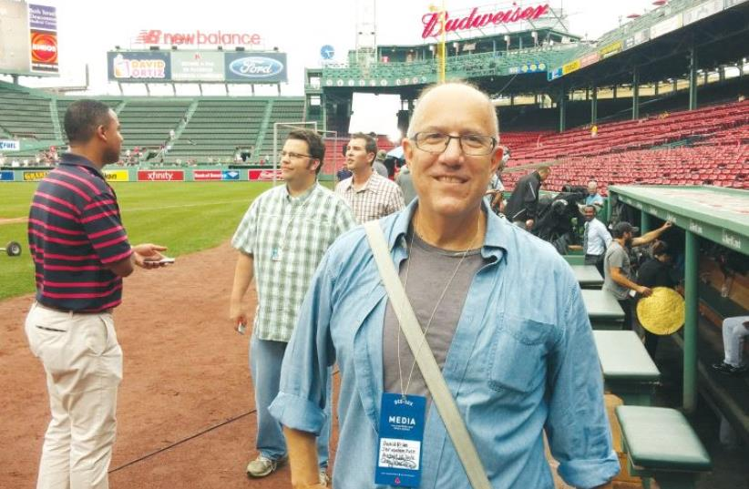 The writer on the storied ground of Fenway Park (photo credit: Courtesy)