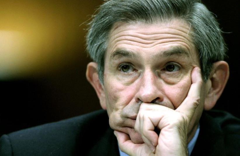Former US deputy defense secretary, Paul Wolfowitz. (photo credit: REUTERS)