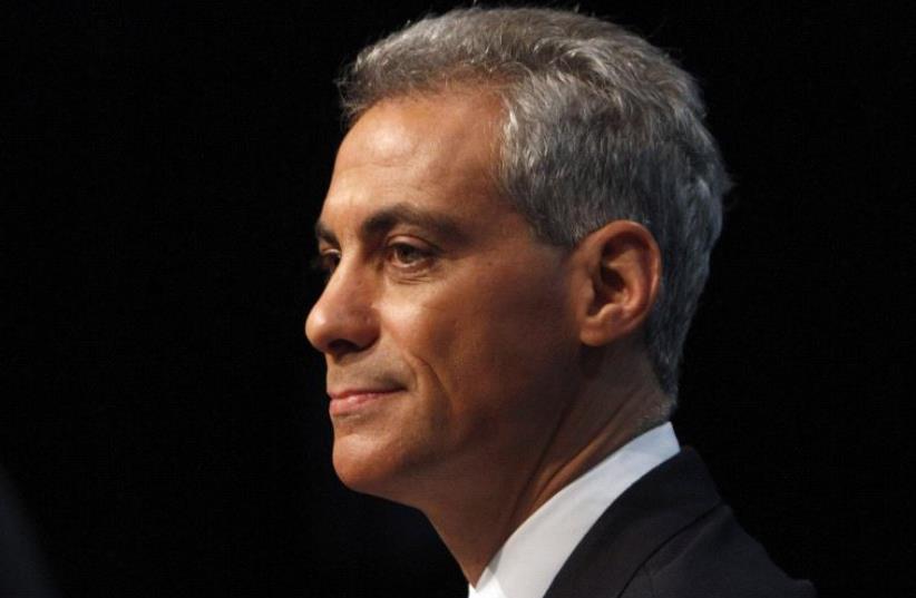 Chicago Mayor Rahm Emanuel (photo credit: REUTERS)