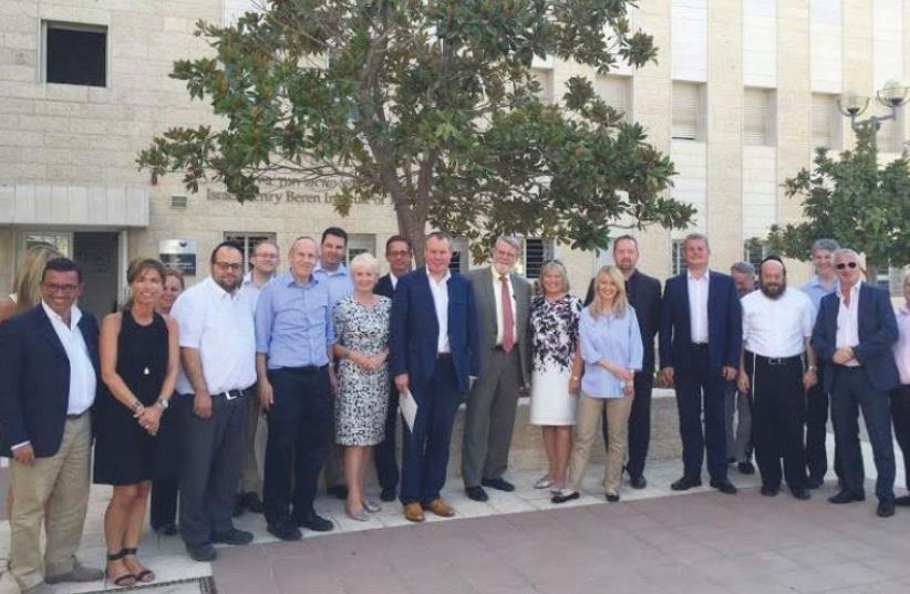 CONSERVATIVE FRIENDS of Israel at the Jerusalem College of Technology. (photo credit: Courtesy)