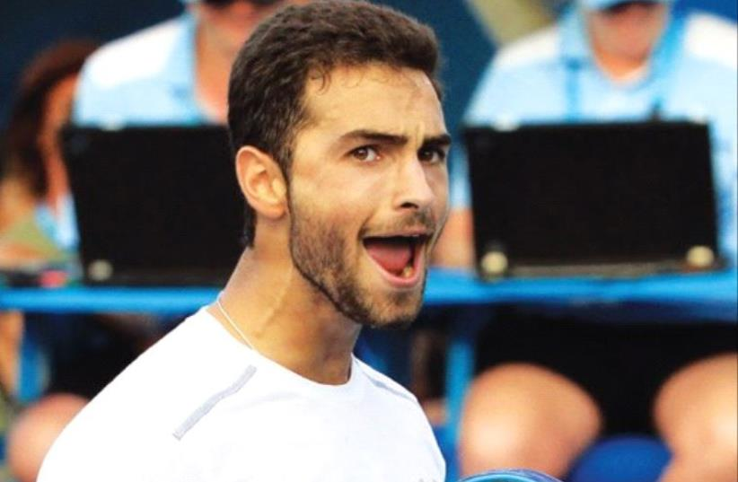 JEWISH AMERICAN Noah Rubin, the 2014 Wimbledon and US Boys Junior champion, came up just short of making the main draw of the US Open, falling in three sets in the qualifying tournament. (photo credit: REUTERS)