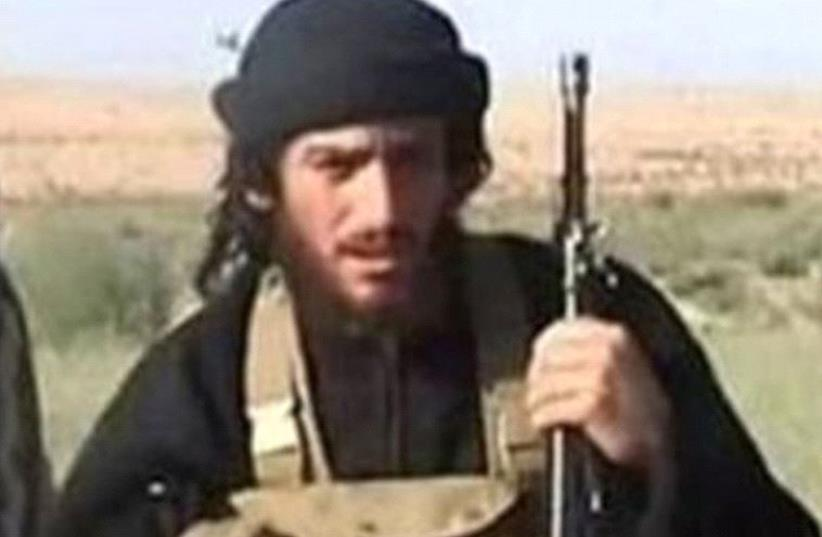 IS spokesman and head of external operations Abu Muhammad al-Adnani  (photo credit: US STATE DEPARTMENT/ REUTERS)
