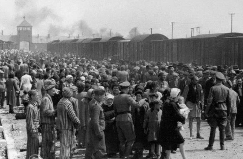 Selection of Hungarian Jews on the ramp at the death camp Auschwitz-II (Birkenau) in Poland during German occupation, May/June 1944 (photo credit: WIKIMEDIA)