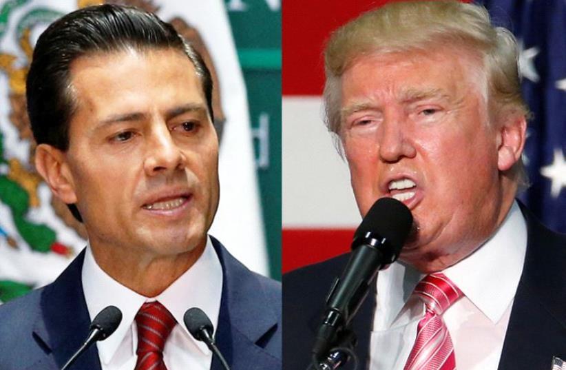 Enrique Pena Nieto and Donald Trump (photo credit: REUTERS)