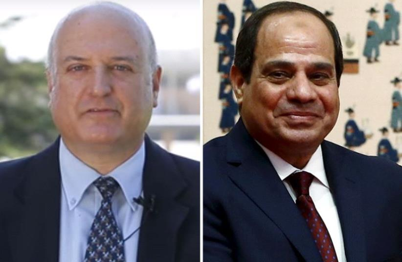 Sisi and Govrin (photo credit: screenshot,REUTERS)