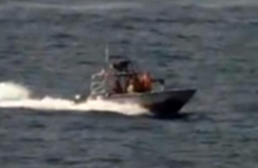 Iran vessels make 'high speed intercept' of US ship (photo credit: screenshot)
