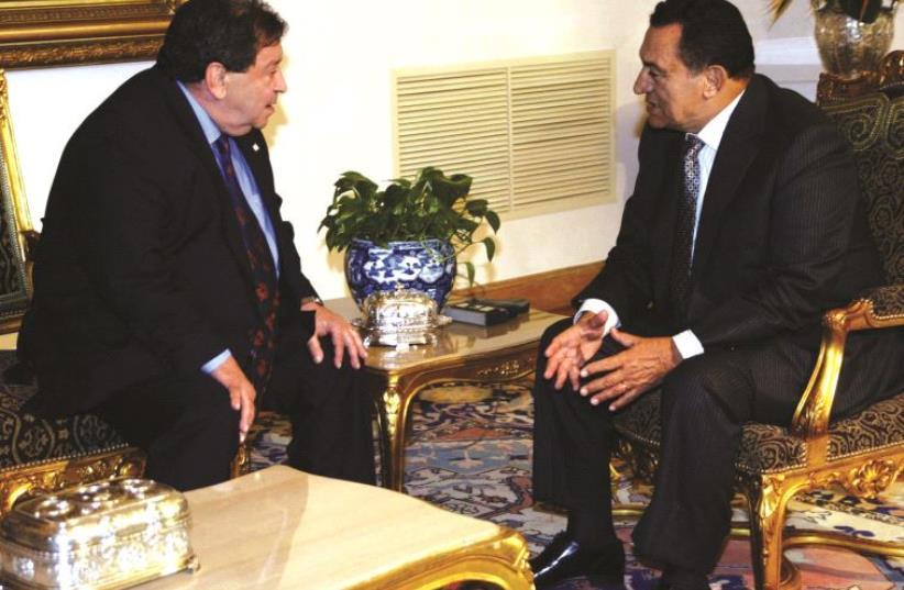 Rencontre avec le président Moubarak en 2005 (photo credit: REUTERS)