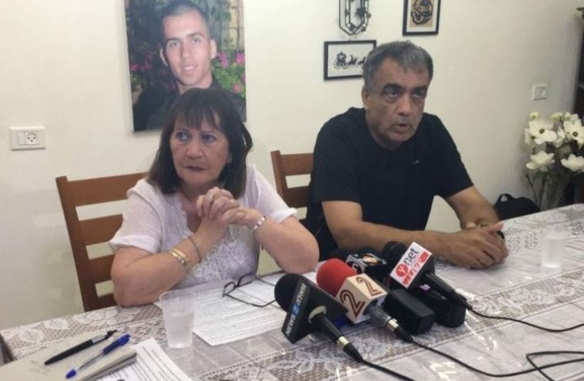 Zehava and Herzl Shaul, the parent of fallen IDF soldier Oron Shaul (photo credit: Courtesy)