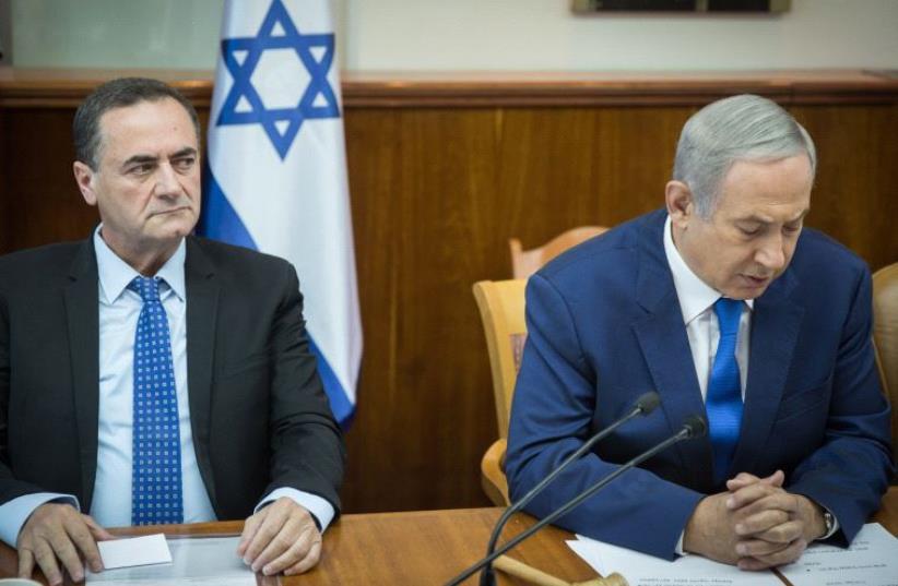 Netanyahu and Katz (photo credit: HADAS PARUSH/FLASH90,POOL)