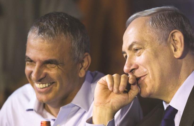 Netanyahou et Moshé Kahlon, ministre des Finances (photo credit: REUTERS)