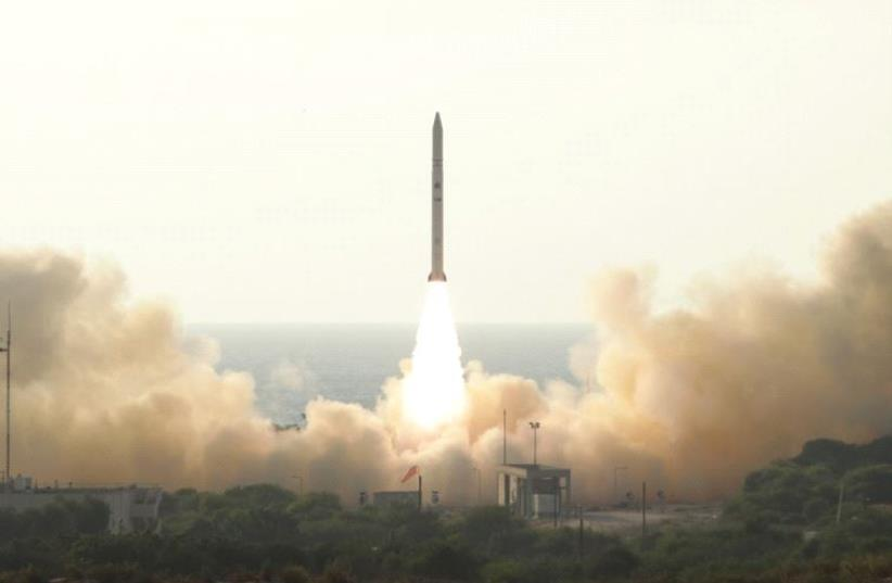 The launch of the Ofek 11 spy satellite  (photo credit: Courtesy)