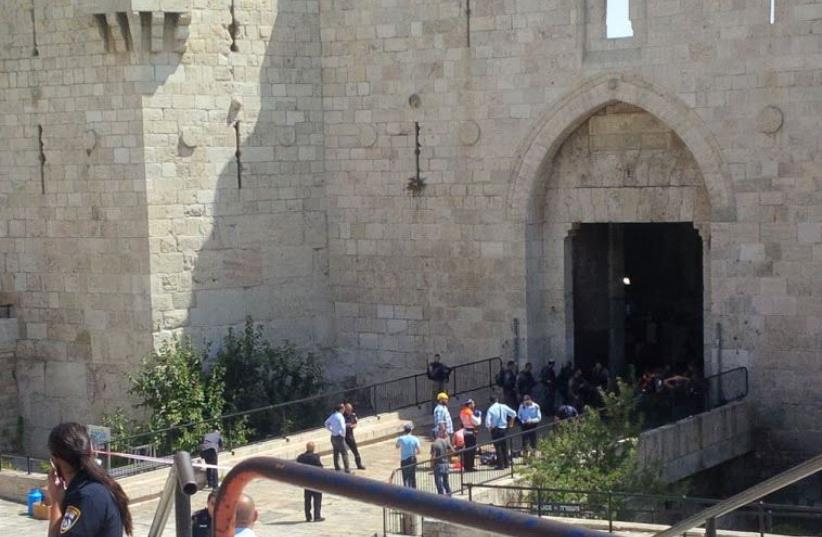 Terrorist attack at Damascus gate (photo credit: MEDABRIM TIKSHORET)