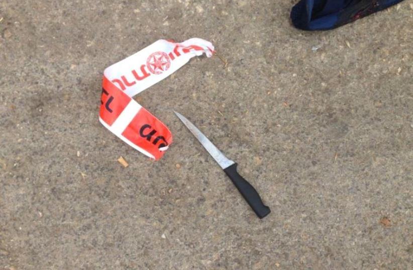 Knife.  (photo credit: COURTESY ISRAEL POLICE)