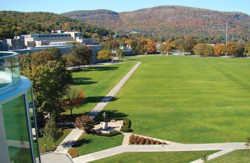 THE IMMACULATE grounds of West Point's 'The Plain,' where cadet ceremonies take place. (photo credit: Wikimedia Commons)
