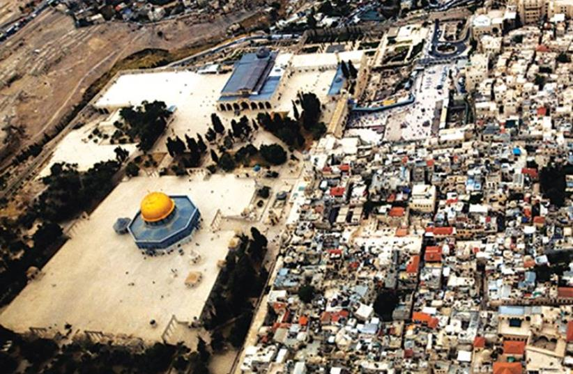 AN AERIAL view of the Old City of Jerusalem. (photo credit: REUTERS)