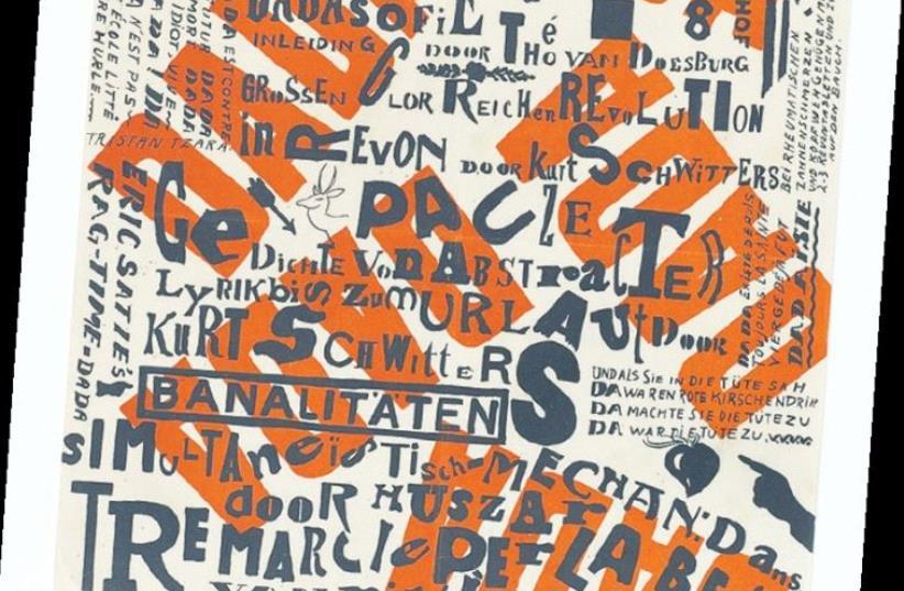 KURT SCHWITTERS's and Theo van Doesburg's 'Kleine Dada Soirée.' (photo credit: ELAD SARIG)