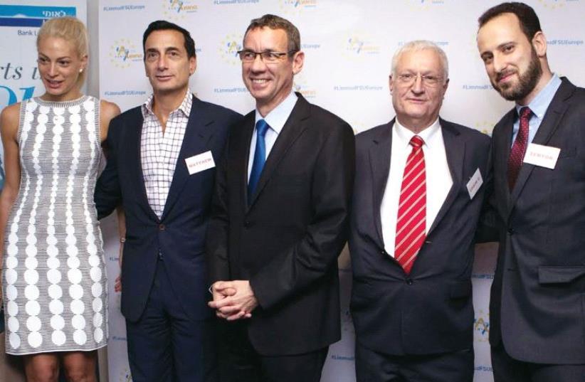 Melanie Lavie, Matthew Bronfman, Mark Regev, Chaim Chesler and Semyon Dovzhik. (photo credit: Courtesy)