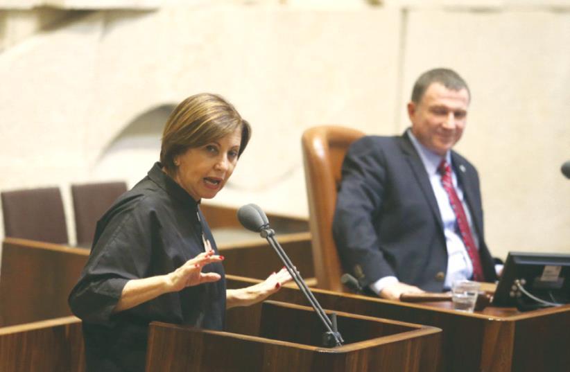 MK ZEHAVA GAL-ON in the Knesset.  (photo credit: MARC ISRAEL SELLEM/THE JERUSALEM POST)