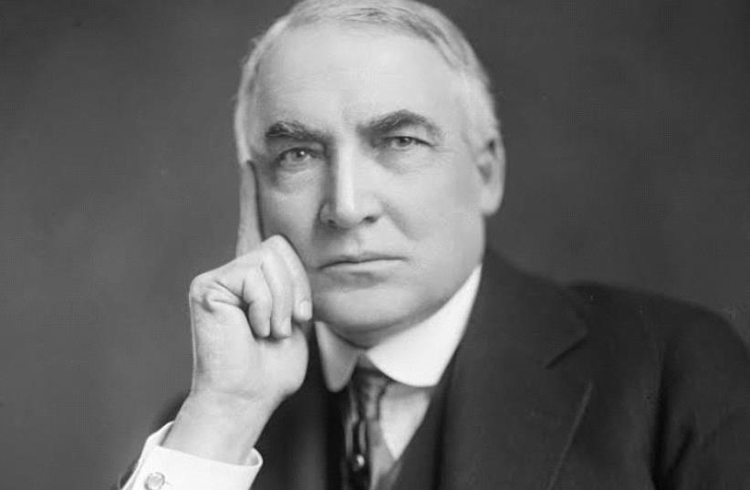 Warren Gamaliel Harding  (photo credit: LIBRARY OF CONGRESS/WIKIMEDIA COMMONS)