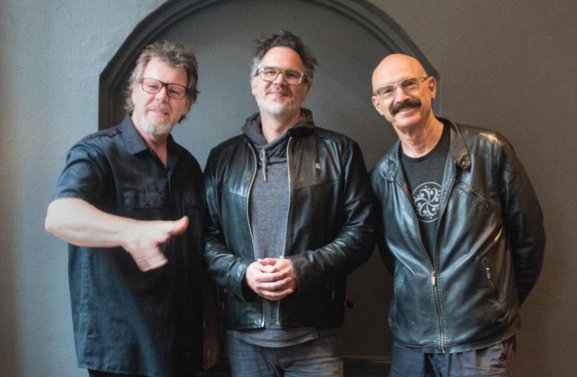 'WE BRING an open quality to our music that you don't see much in progressive rock – we establish a relationship, talk to the audience and make fun of ourselves,' says Tony Levin (right) seen here with other members of The Stick Men, Markus Reuter (center) and Pat Mastelotto. (photo credit: ROBERT FRAZZA)