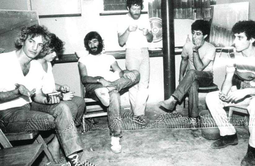 Shalom Hanoch (L) and Tamouz, 1976 (photo credit: Courtesy)