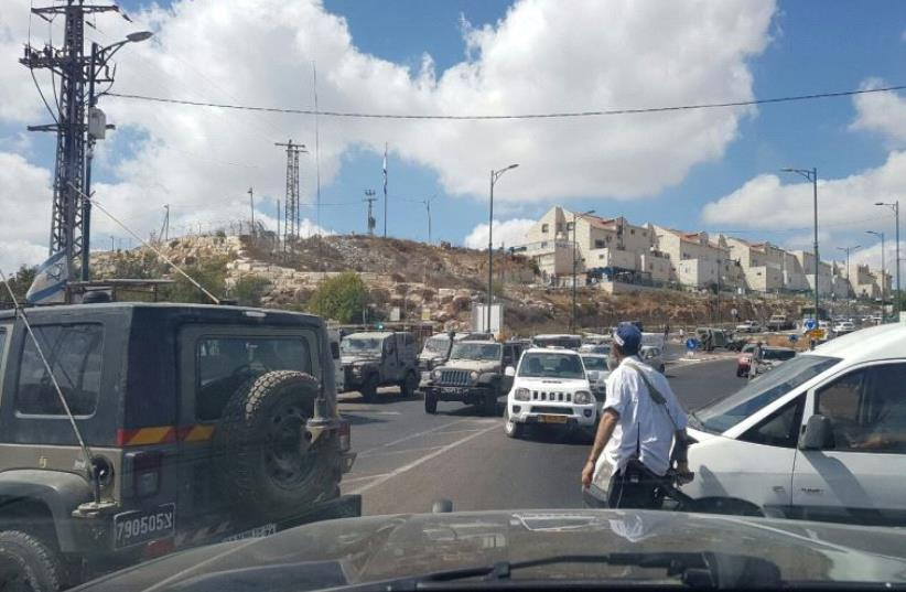 Near the entrance to Kiryat Arba. (photo credit: EE911)