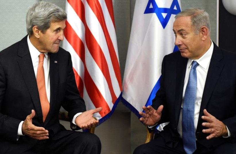 PM Benjamin Netanyahu and US Secretary of State John Kerry (photo credit: REUTERS)