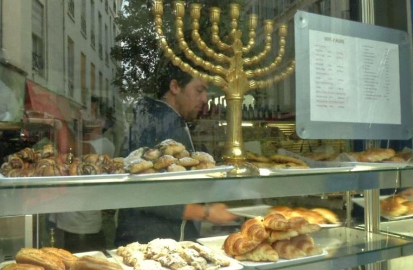 The Jewish quarter of Le Marais in Paris (photo credit: screenshot)