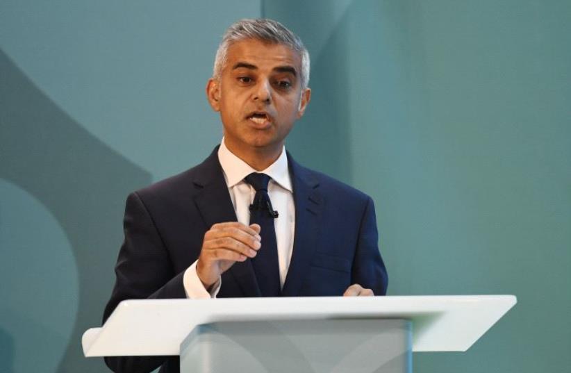 London Mayor Sadiq Khan (photo credit: REUTERS)