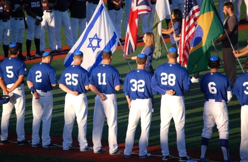 Bleeding blue-and-white, baseball style (photo credit: JOSH SOLOMON)