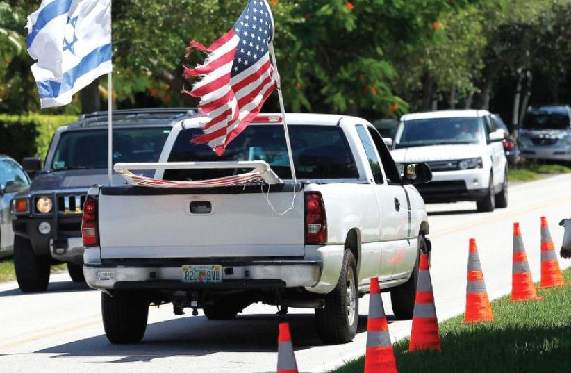Israeli and American flags.  (photo credit: REUTERS)