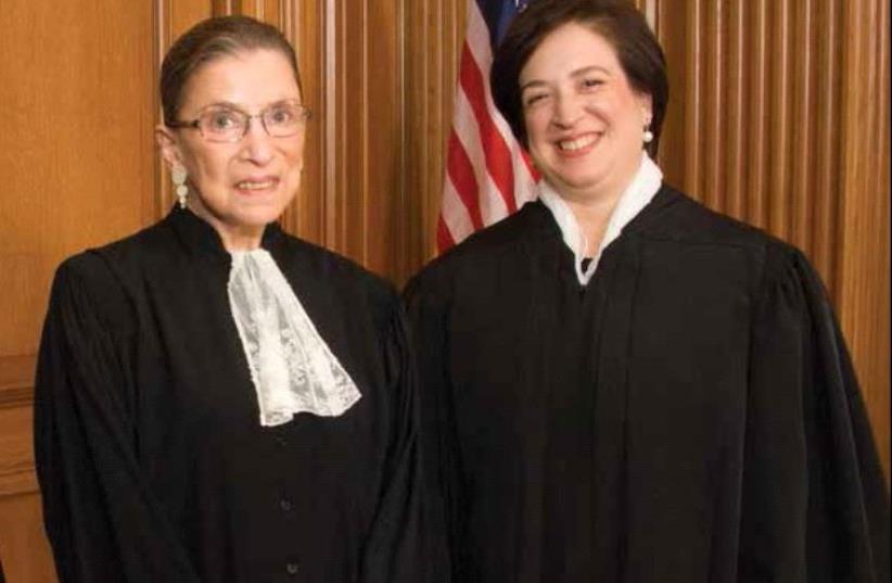 Ruth Bader Ginsburg and Elena Kagan (photo credit: US SUPREME COURT)