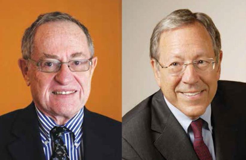 Alan M. Dershowitz and Irwin Cotler (photo credit: Courtesy)